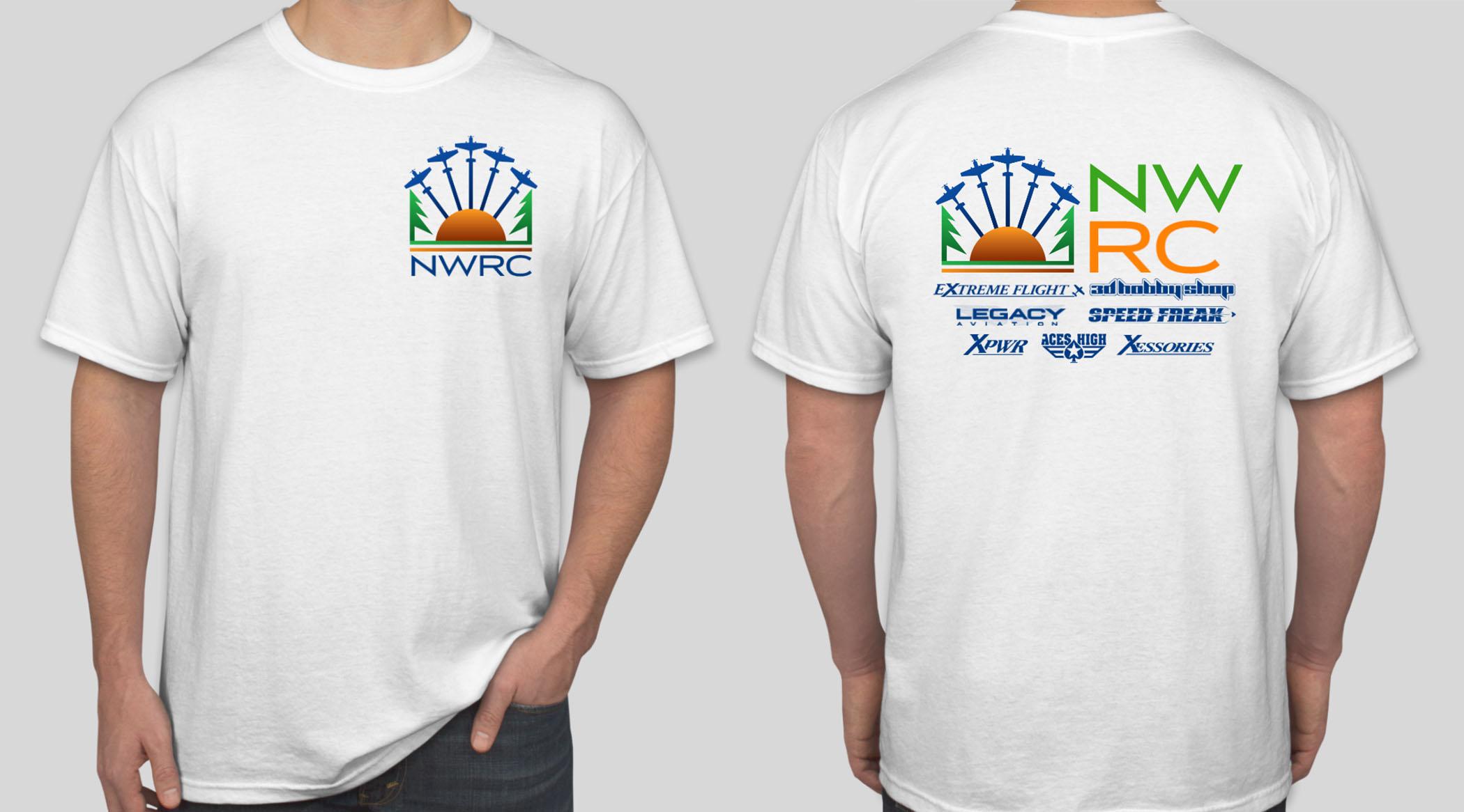 Nwrc t shirt white multi extra large for Extra tall white t shirts