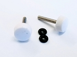 3mm Thumb Screws (2) for Canopies and SFG's - WHITE