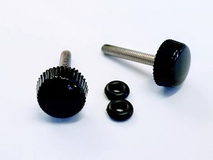 3mm Thumb Screws (2) for Canopies and SFG's - BLACK