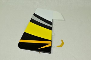 "3D Hobby Shop - 61"" Extra 330 LT Rudder - Yellow/Black"