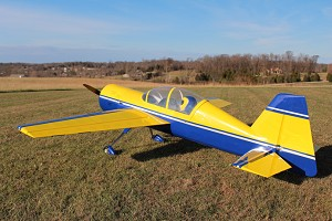 "Extreme Flight - 110"" Yak 54 V2 Yellow/Dark Blue"