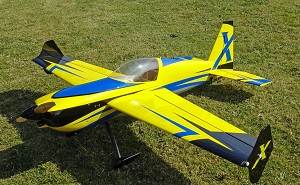 "Extreme Flight - 52"" Slick 580 EXP - Yellow/Blue"
