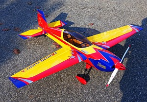 "EF - 60"" Extra 300 V2 - Yellow/Red/Blue"