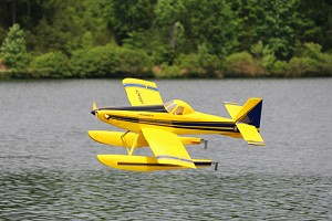 "Legacy Aviation - 65"" Turbo Duster - Yellow/Blue FLOAT KIT"