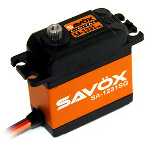 Savox SA-1231SG - High torque, good speed, 6v