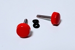 3mm Thumb Screws (2) for Canopies and SFG's - RED